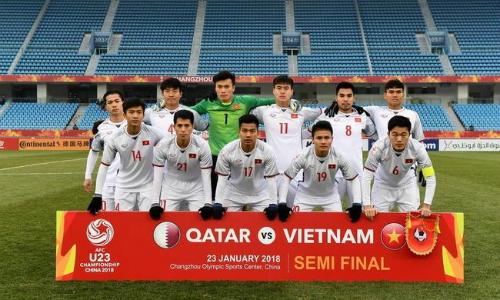 Việt Nam đang gây chấn động ở giải U23 châu Á. Ảnh: Sina.