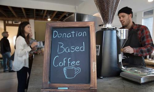 Tiệm cafe không giá ở Mỹ
