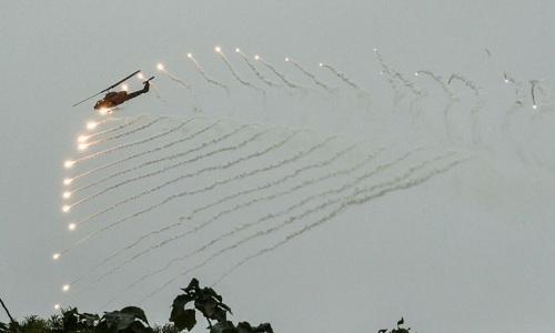 Xe tăng, tiêm kích Đài Loan tập trận chống đổ bộ