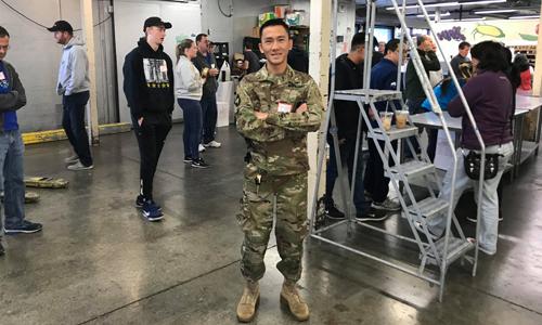 Cao Khoa, sĩ quan trong Quân đội Mỹ. Ảnh: NVCC.