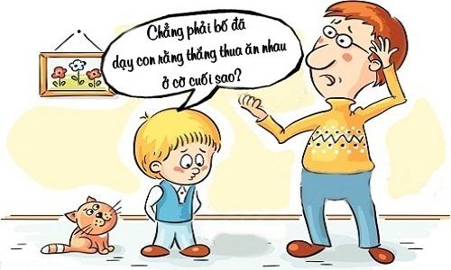 Con thi trượt nhờ nghe lời bố dạy
