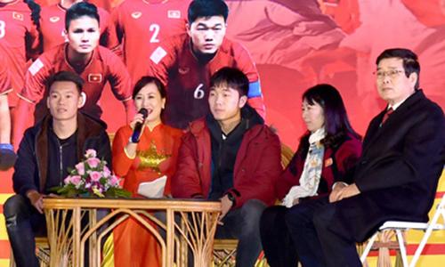 Xuân Trường và Thành Chung về quê nhà Tuyên Quang