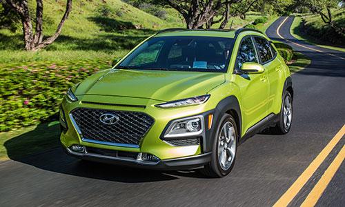 Hyundai Kona 2018 bán ra tại Mỹ từ tháng 3 với giá khởi điểm 19.500 USD.