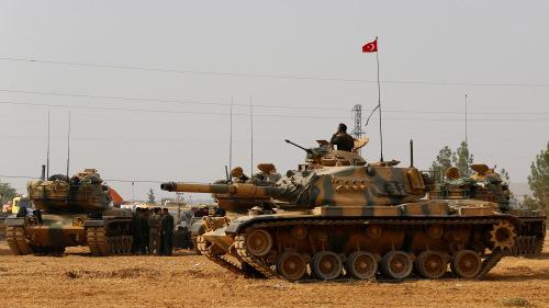 Lực lượng Thổ Nhĩ Kỳ tại Afrin. Ảnh: Al Manar.