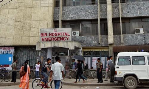 Một bệnh viện tại thủ đô Kathmandu. Ảnh: Himalayan Times.