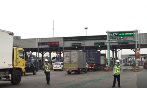 17 trạm BOT quốc lộ 1, đường Hồ Chí Minh thu phí không dừng