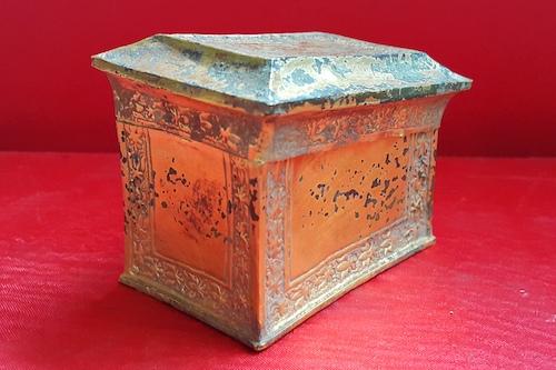Hộp xá lị đang được bảo quản tại bảo tàng tỉnh Nghệ An. Ảnh: Nguyễn Hải.