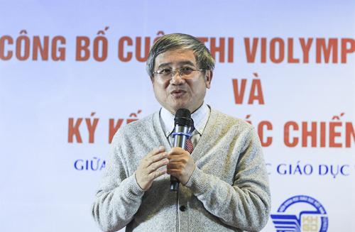 Ông Bùi Quang Ngọc, Tổng Giám đốc FPT, khẳng định FPT sẽ tiếp tục đầu tư để Violympic toàn diện hơn nữa về cả công nghệ và nội dung. Ảnh: Dương Tâm