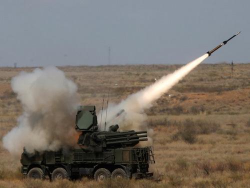 Tổ hợp phòng không tầm ngắn Pantsir-S1. Ảnh: Almaz Antey.