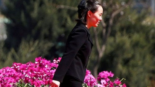Kim Yo-jong, em gái nhà lãnh đạo Triều Tiên Kim Jong-un. Ảnh: Reuters.