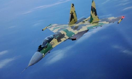 Tiêm kích Su-35 do Nga chế tạo. Ảnh:Sputnik.