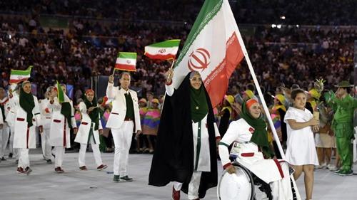 Đoàn vận động viên Iran tại Olympic mùa hè năm 2016 ở Rio de Janeiro. Ảnh:thechronicleherald.