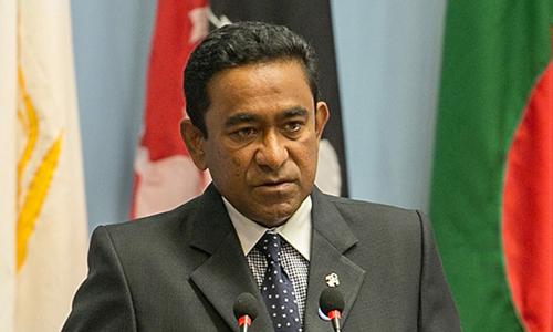 Tổng thống Maldives Abdulla Yameen. Ảnh: CBC.