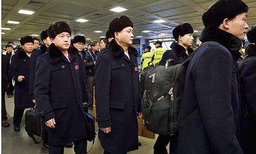 Một đoàn đại biểu Triều Tiên đến Hàn Quốc vào đầu tháng 2. Ảnh: ABC News.