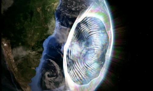 """Vùng dị thường Nam Đại Tây Dương thường được gọi là """"Tam giác Bermuda của vũ trụ"""". Ảnh minh họa: Daily Galaxy."""