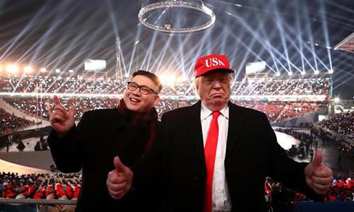 Người đóng giả Trump và Kim Jong-un bị mời ra khỏi lễ khai mạc Olympic