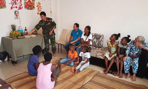 Tết sớm của sĩ quan gìn giữ hòa bình Việt Nam tại Trung Phi