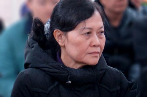 Bà Yến tại phiên tòa sơ thẩm.
