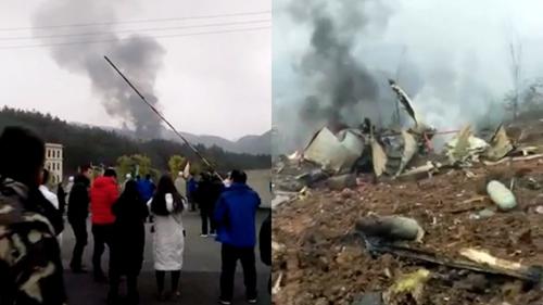 Vận tải cơ Trung Quốc gặp nạn ở Quý Châu