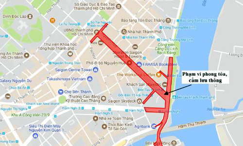 7 đường ở trung tâm Sài Gòn cấm xe đêm giao thừa