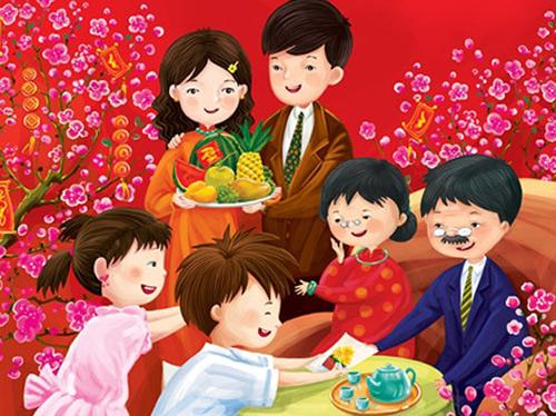 Đi chúc Tết cha mẹ, thầy cô là phong tục đẹp của người Việt Nam. Ảnh minh họa.