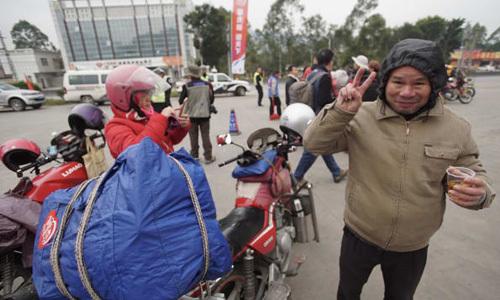 """Cuộc """"di cư"""" bằng xe máy lớn nhất ở Trung Quốc vào mỗi dịp Tết"""