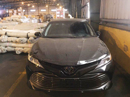 Toyota Camry thế hệ mới đầu tiên tại Việt Nam. Ảnh: Mai Đình Phương.