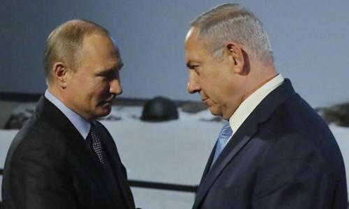 Tổng thống Nga Putin (trái) và Thủ tướng Israel Netanyahu. Ảnh: Sputnik.