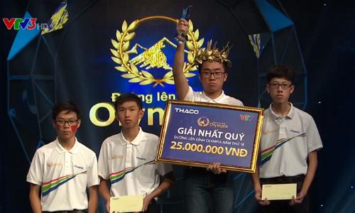 Nam sinh TP HCM thắng kịch tính, giành vé vào chung kết Olympia