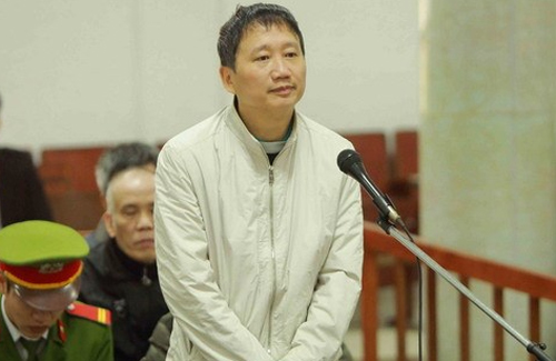 Bị cáo Trịnh Xuân Thanh trong lời nói sau cùng tại phiên xử ngày 3/2. Ảnh: TTXVN.