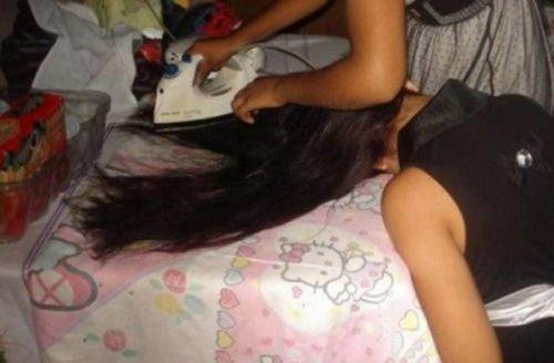 Cách để có một mái tóc thẳng.