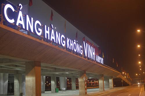 Sân bay Vinh nơi xảy ra sự cố. Ảnh: Hải Bình.