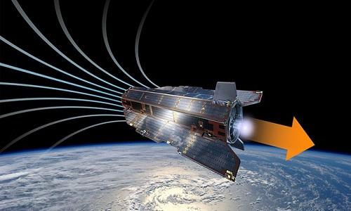 Động cơ đẩy mới có thể giúp vệ tinh hoạt động nhiều năm trên quỹ đạo thấp của Trái Đất. Ảnh: ESA