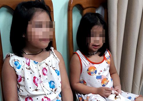 Hai bé gái bị bắt cóc. Ảnh: Công an cung cấp.