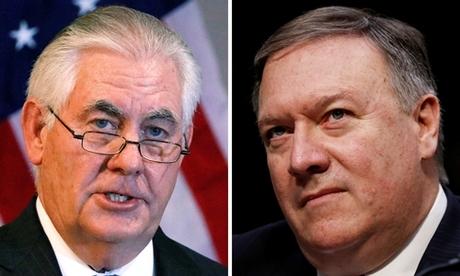 Ông Rex Tillerson (trái) và ông Mike Pompeo. Ảnh: Reuters.