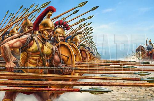 Minh họa đội hình Phalanx của Macedonia. Ảnh: KJA.