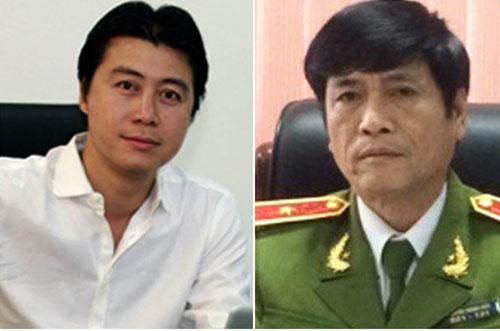 Phan Sào Nam và ông Nguyễn Thanh Hoá trước khi bị bắt.