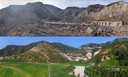 Người đàn ông Trung Quốc chi 95 triệu USD hồi sinh núi - ảnh 1