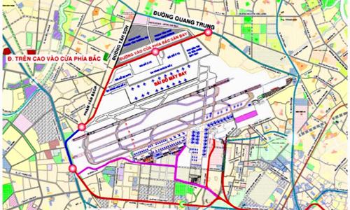 Phía Bắc sân bay Tân Sơn Nhất được đề xuất xây đường trên cao