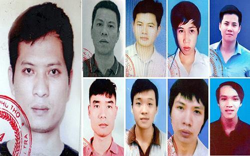 Chân dung các bị can bị công an Phú Thọ phát lệnh truy nã. Ảnh: CAPT