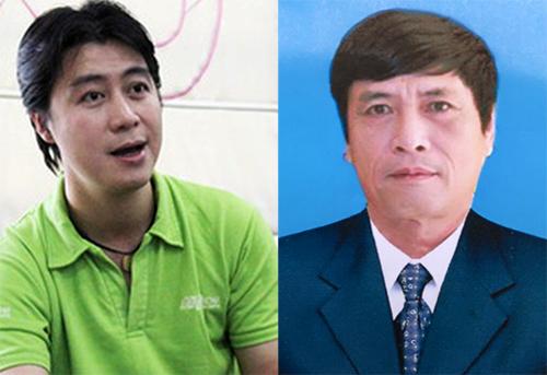 Phan Sào Nam (trái) và cựu cục trưởng C50 Nguyễn Thanh Hóa.
