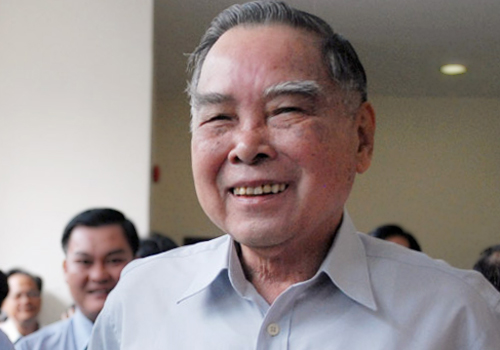 Nguyên Thủ tướng Phan Văn Khải tại hội thảo 40 nămTP HCM phát triển và hội nhập, ngày 17/3/2015. Ảnh: Hữu Nguyên.
