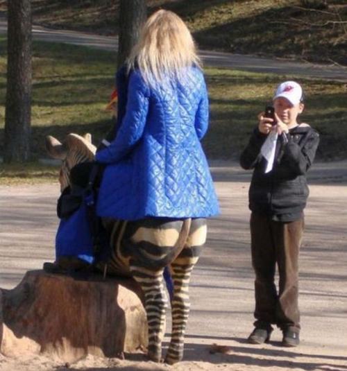 Cưỡi ngựa chụp ảnh thôi mà.