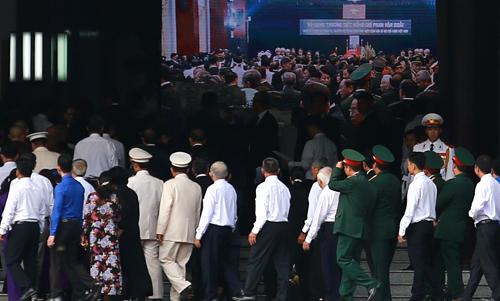 Tang lễ nguyên Thủ tướng Phan Văn Khải được tổ chức theo nghi thức Quốc tang trong ngày 20-21/3. Ảnh: Thành Nguyễn.