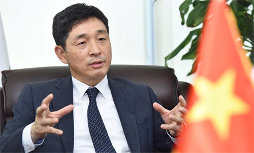 Đại sứ Hàn Quốc tại Việt Nam Lee Hyuk. Ảnh: Giang Huy.