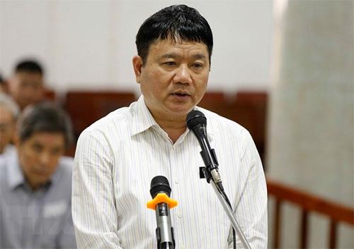 Ông Đinh La Thăng trong phiên toà ngày 20/3. Ảnh: TTXVN