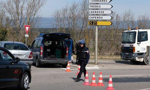 Cảnh sát Pháp phong toả hiện trường vụ tấn công. Ảnh: AFP.