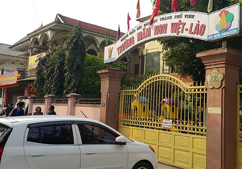 Trường mầm non nơi xảy ra vụ việc. Ảnh: Nguyễn Hải.