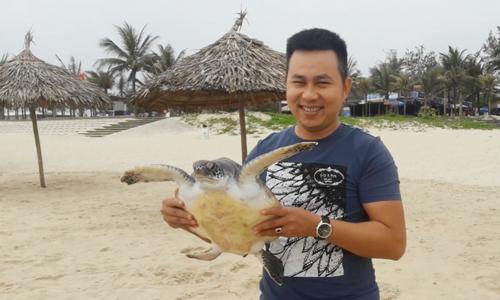 Chủ quán nhậu thả rùa quý hiếm về biển