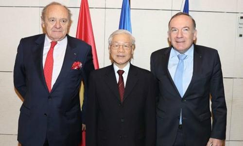 Tổng bí thư kêu gọi Pháp mở rộng đầu tư vào Việt Nam